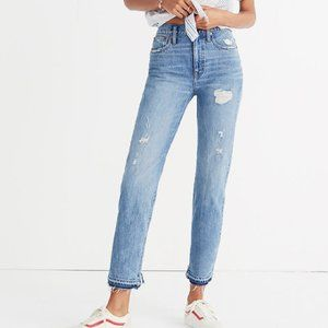 Madewell Classic Straight Jean Destructed Edition